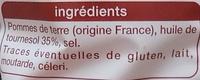 Chips paysannes - Ingrediënten - fr
