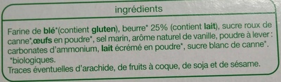 Galettes pur beurre - Ingredients