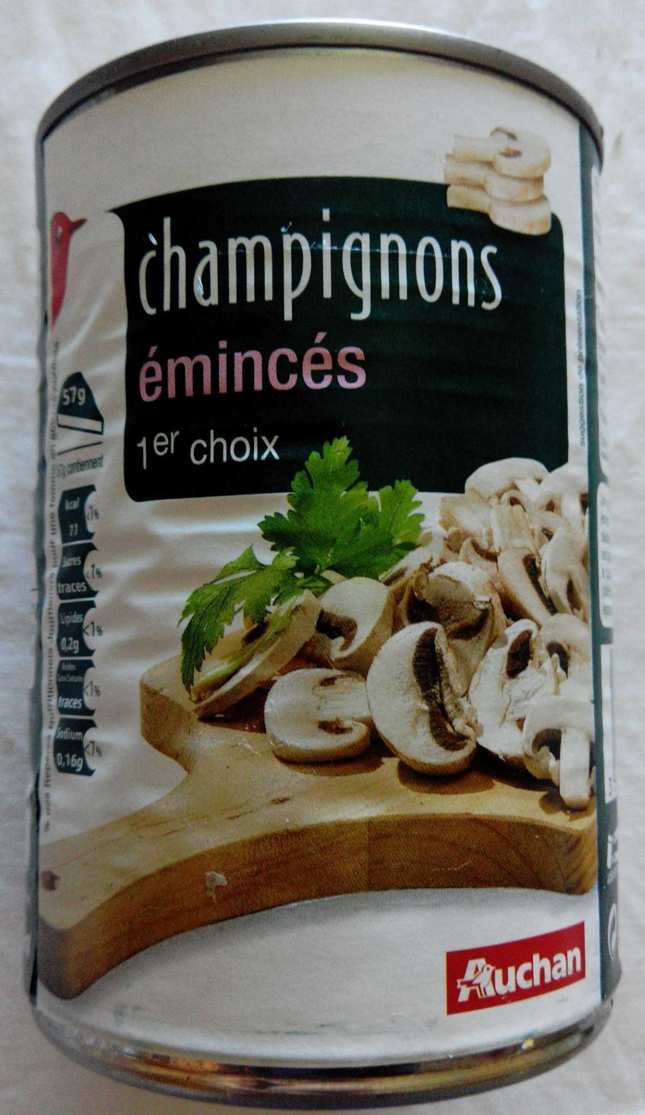Champignons émincés 1er choix - Product
