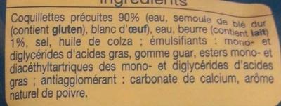 Coquillettes pointe de beurre express - Ingrédients