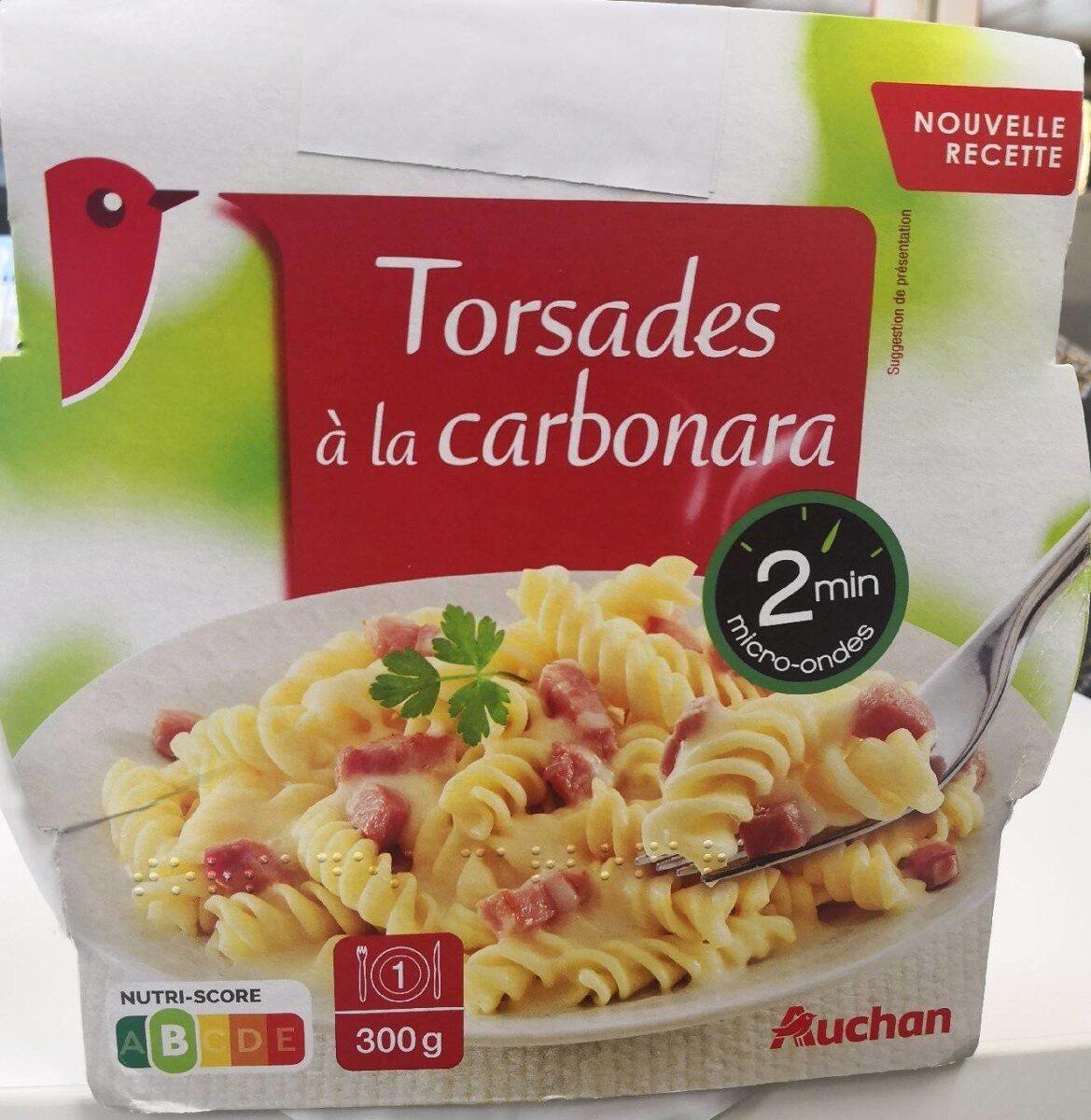 Torsades Carbonara Auchan - Produkt - fr