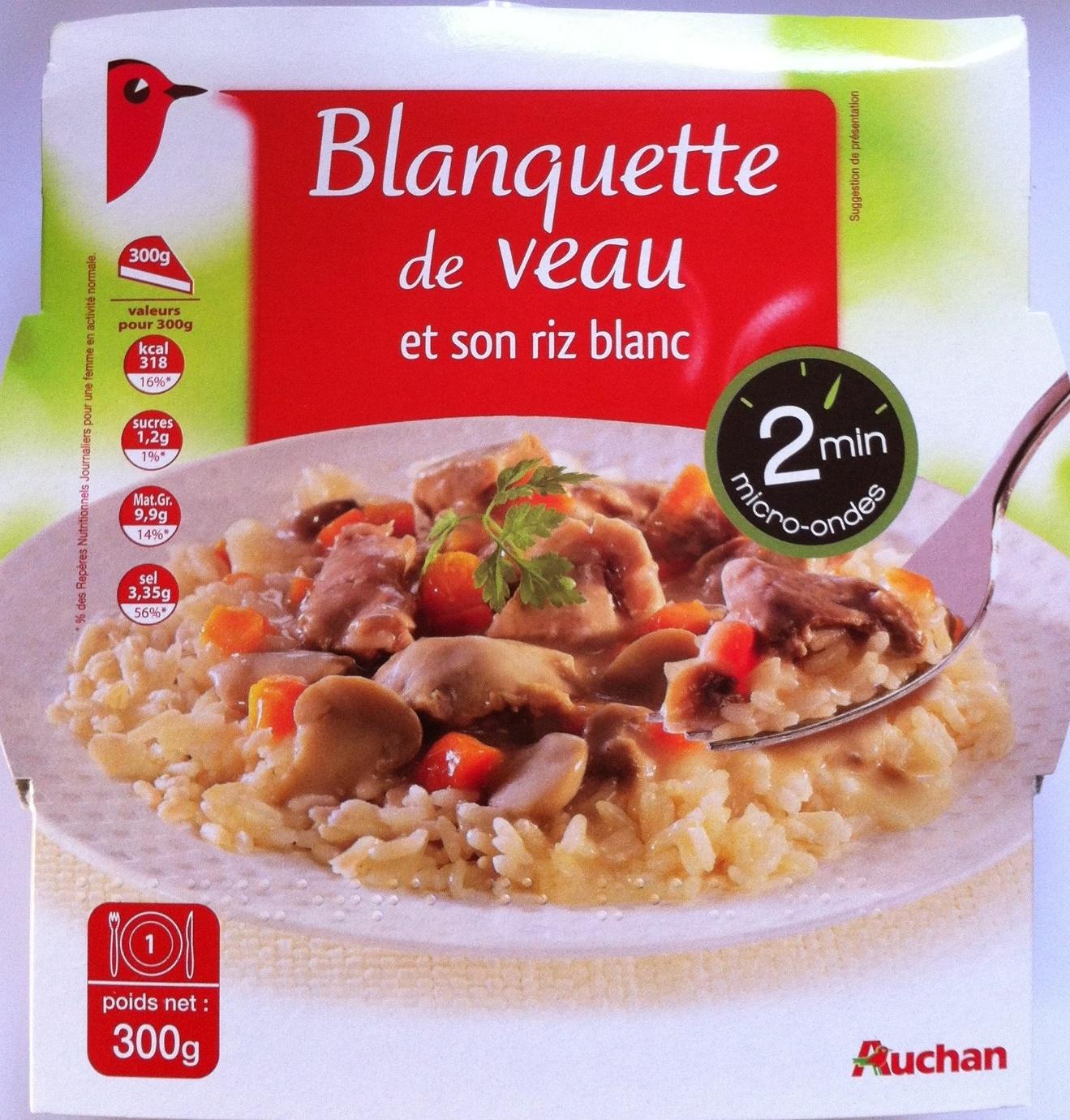 Blanquette de veau et son riz blanc - Product - fr