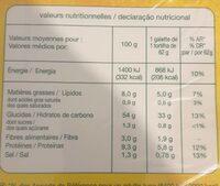 6 wraps de blé de trigo - Valori nutrizionali - fr