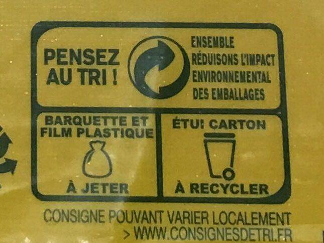 6 wraps de blé de trigo - Istruzioni per il riciclaggio e/o informazioni sull'imballaggio - fr