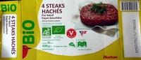 4 Steaks hachés pur boeuf façon bouchère - Product - fr