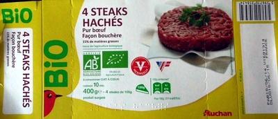 4 Steaks hachés pur boeuf façon bouchère - Produit