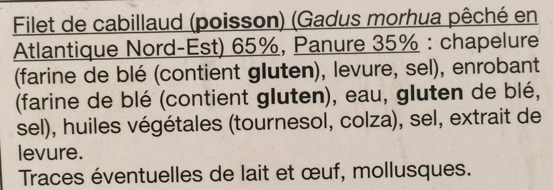 Filets de Cabillaud en panure croustillante - Ingrediënten