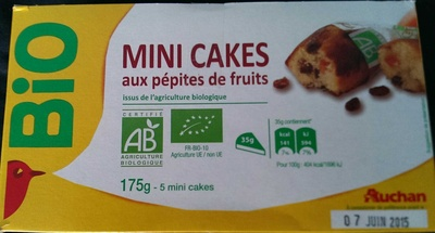Mini Cakes aux pépites de fruits bio - Product