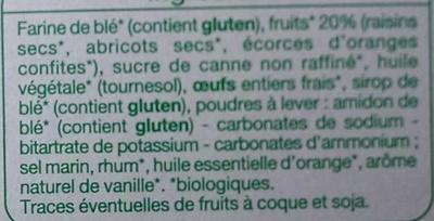 Mini Cakes aux pépites de fruits bio - Ingrédients