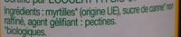 Confiture extra de myrtilles - Ingredienti - fr