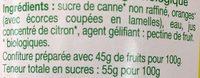 Confiture extra d'Orange bio - Ingrediënten - fr