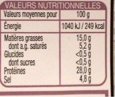 Le Charcutier prosciutto san daniele - Informations nutritionnelles - fr