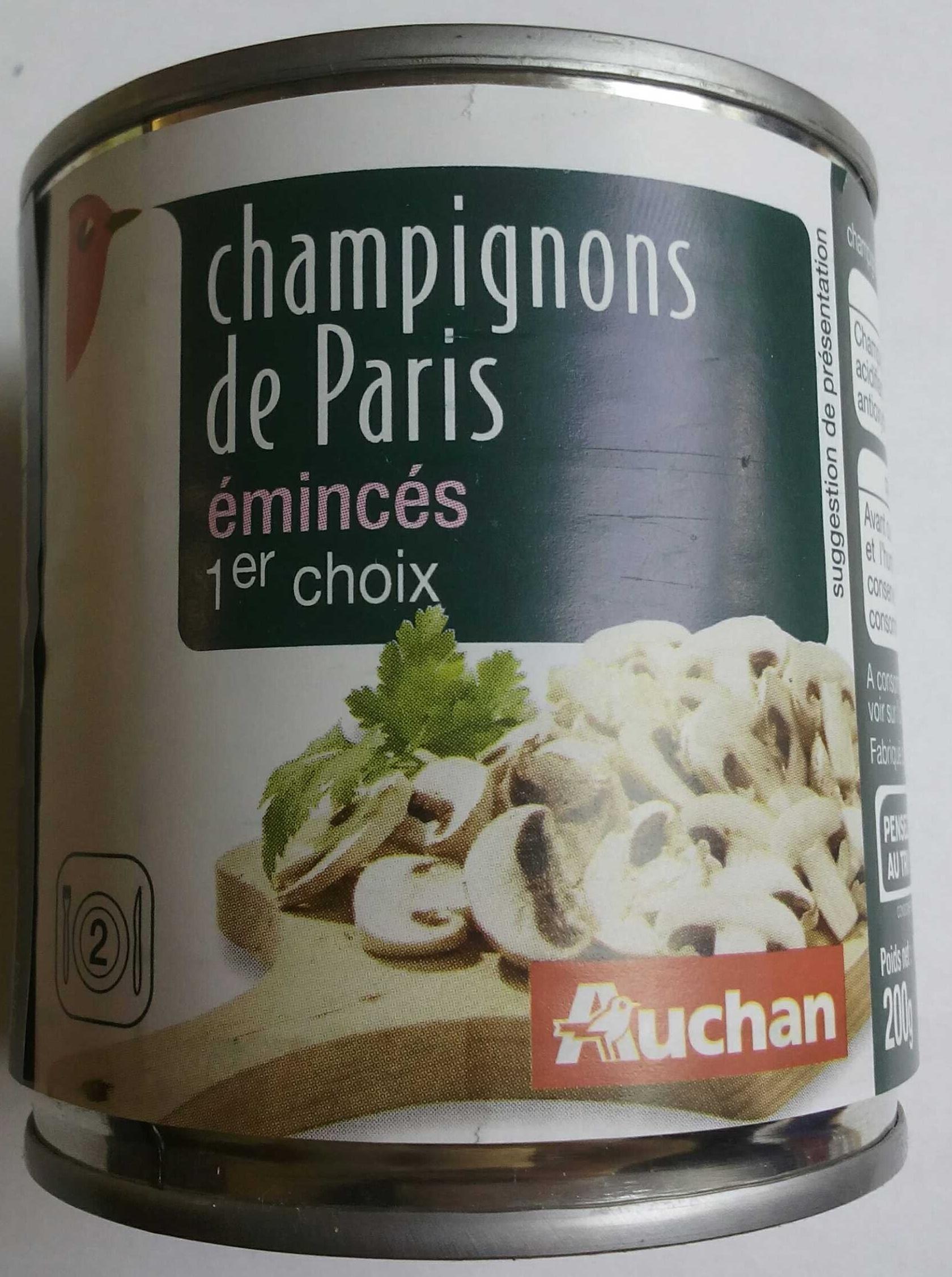 Champignons de Paris émincés 1er choix - Product - fr