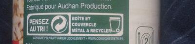 Champignons de Paris émincés 1er choix - Recycling instructions and/or packaging information - fr
