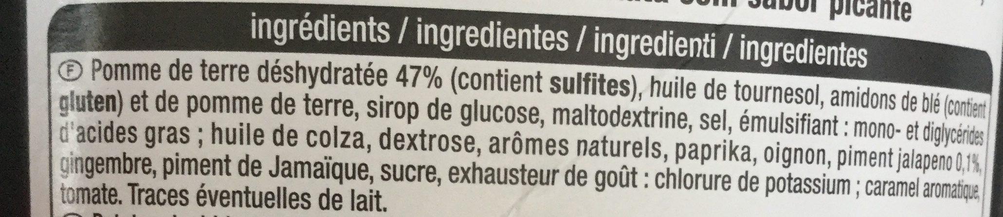 Tuiles saveur Spicy - Ingrédients