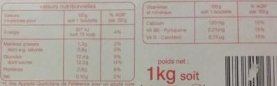LB6 saveur Fraise - Valori nutrizionali