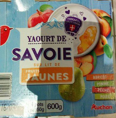 Yaourt sur lit de fruit jaunes - Produit