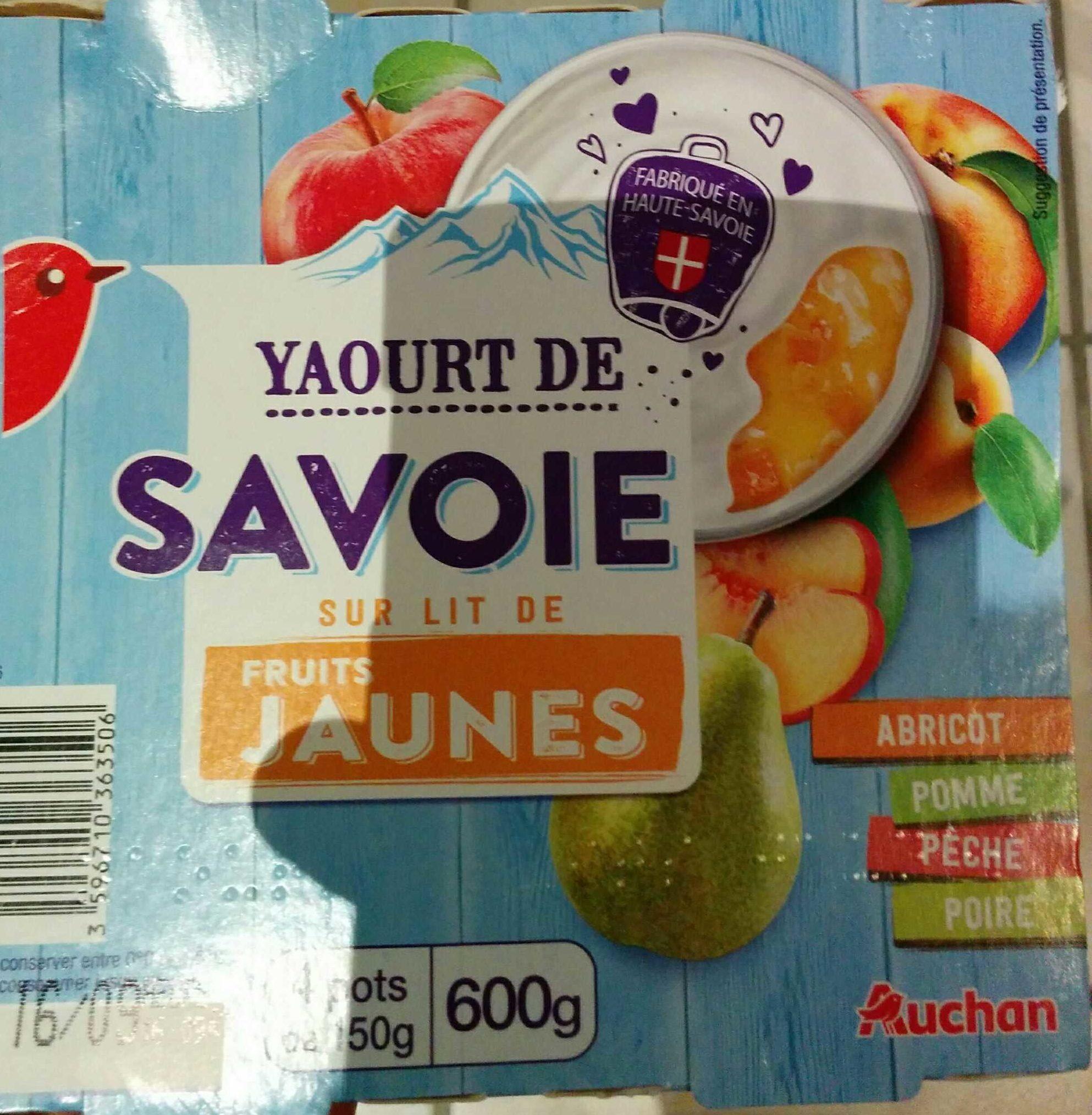 Yaourt sur lit de fruit jaunes - Produit - fr