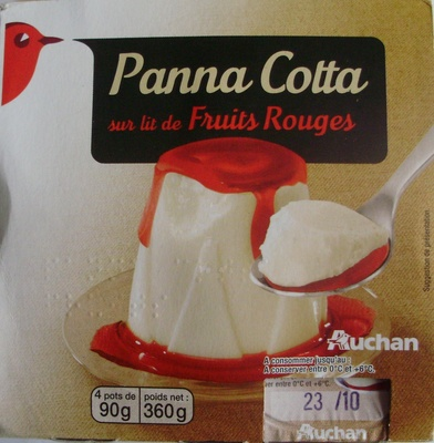 Panna Cotta sur lit de Fruits Rouges - Product - fr