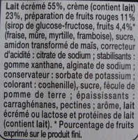 Panna Cotta sur lit de Fruits Rouges - Ingredients - fr