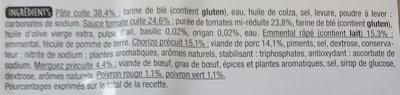 Pâte fine Orientale - Ingrédients - fr