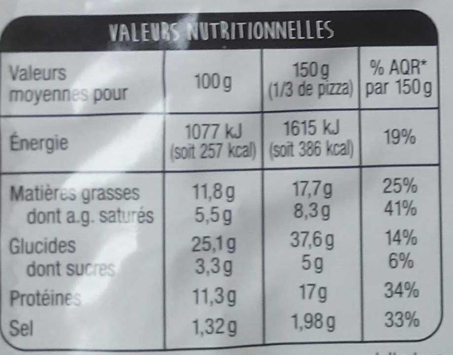 Pâte fine Orientale - Informations nutritionnelles - fr