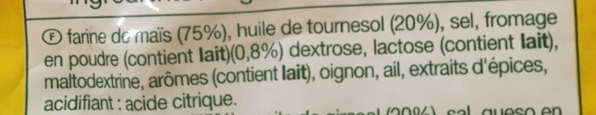 Tortillas Chips Fromage - Ingrédients - fr