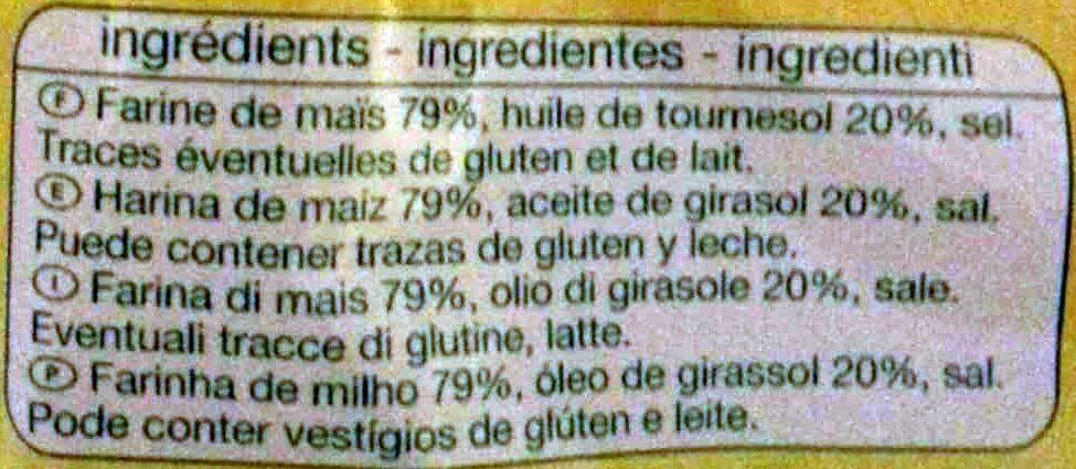 Tortillas chips nature - Ingrédients - fr