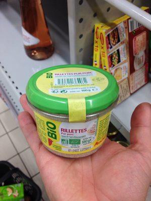 Bio rillettes pur porc verrine - Produit - fr