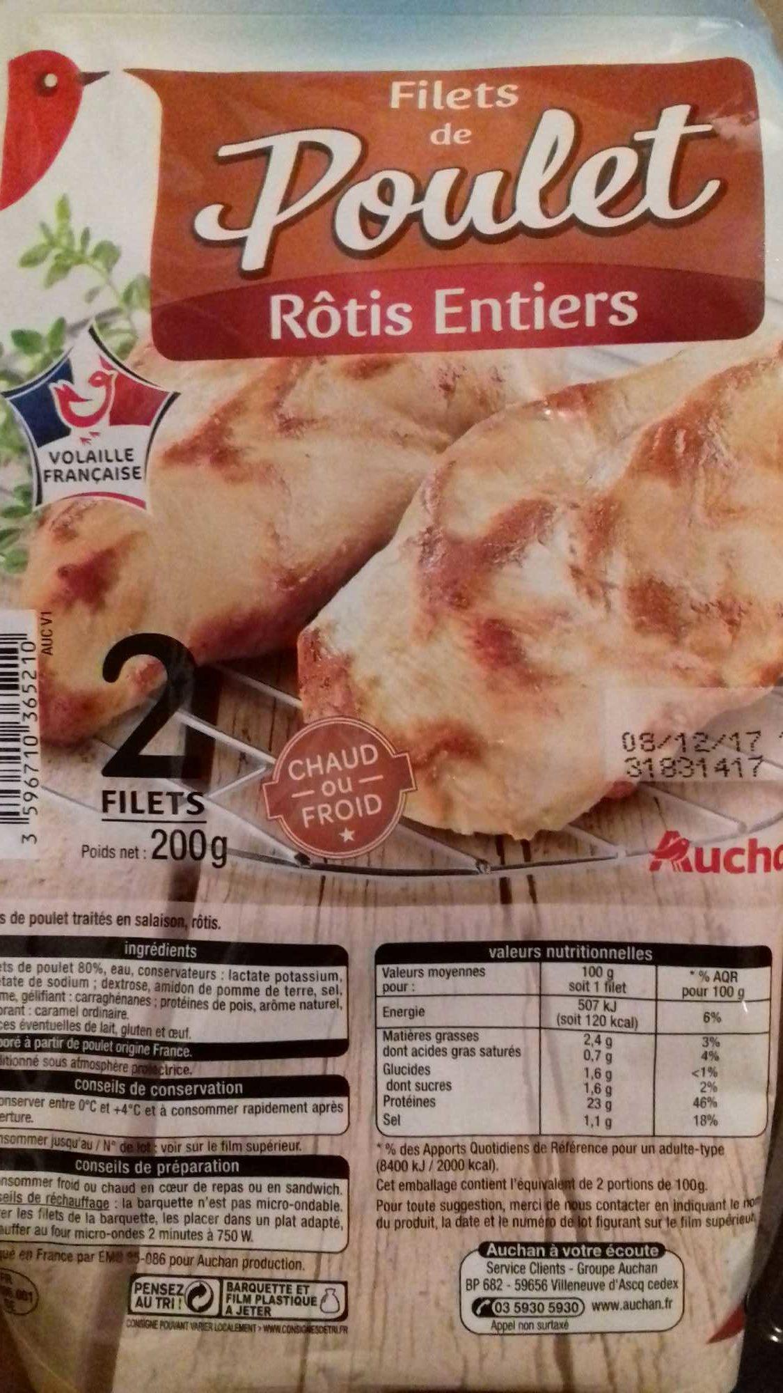 Poulet rôti filets *2 - Produit