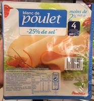 Blanc de poulet (-25% de sel) - Produit