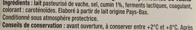Tranchettes Gouda au Cumin - Ingrediënten - fr