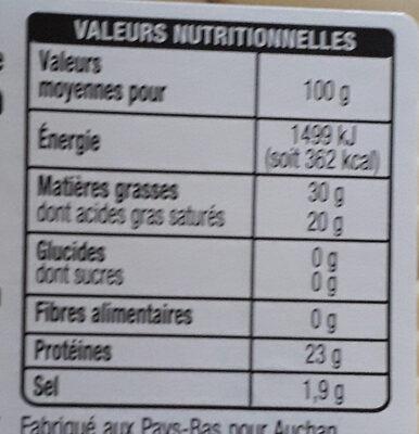 Tranchettes Gouda au Cumin - Voedingswaarden - fr
