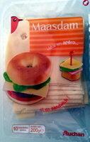 Maasdam (27% MG) x 10 tranchettes - Product - fr