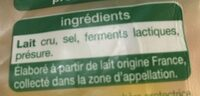 Comté - Ingrediënten