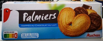 Palmiers Nappés au Chocolat au Lait - Produit - fr