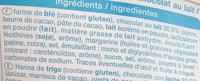 Palmiers Nappés au Chocolat au Lait - Ingrédients - fr