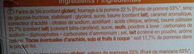 Sablés Pommes caramélisées - Ingrédients - fr