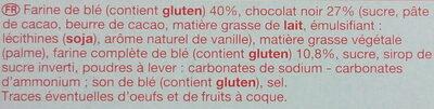 Biscuits Sablés Chocolat Noir - Ingredientes - fr