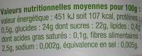 compote pommes poires kiwis - Informations nutritionnelles