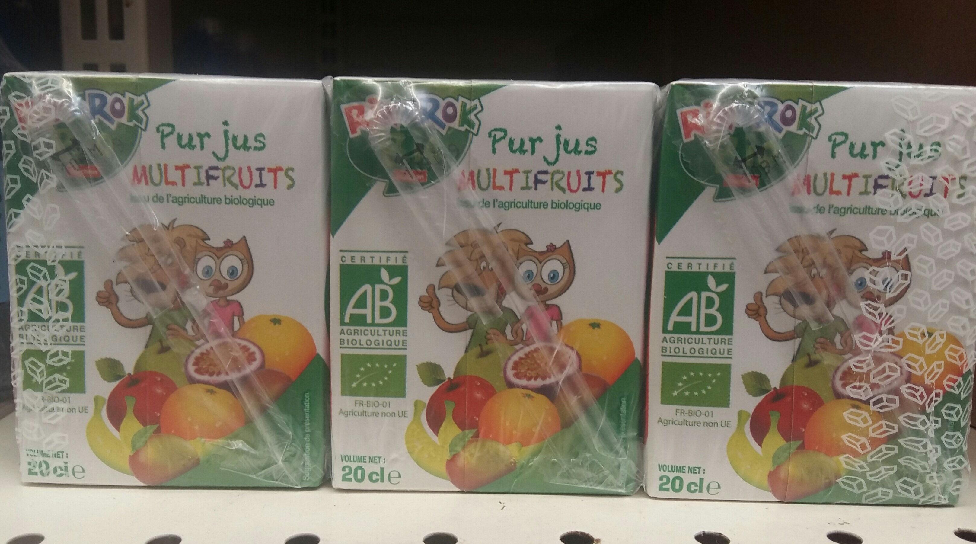 Rik & Rok bio pur jus multifruits - Product - fr