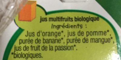 Rik & Rok bio pur jus multifruits - Ingrediënten - fr