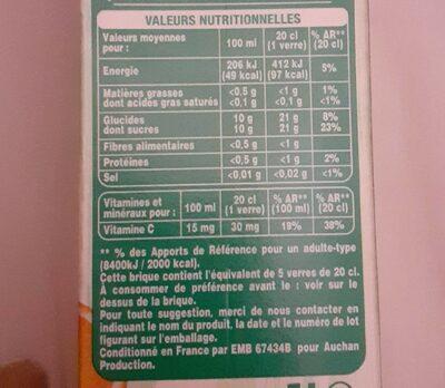 100% pur jus multifruits - Valori nutrizionali - fr