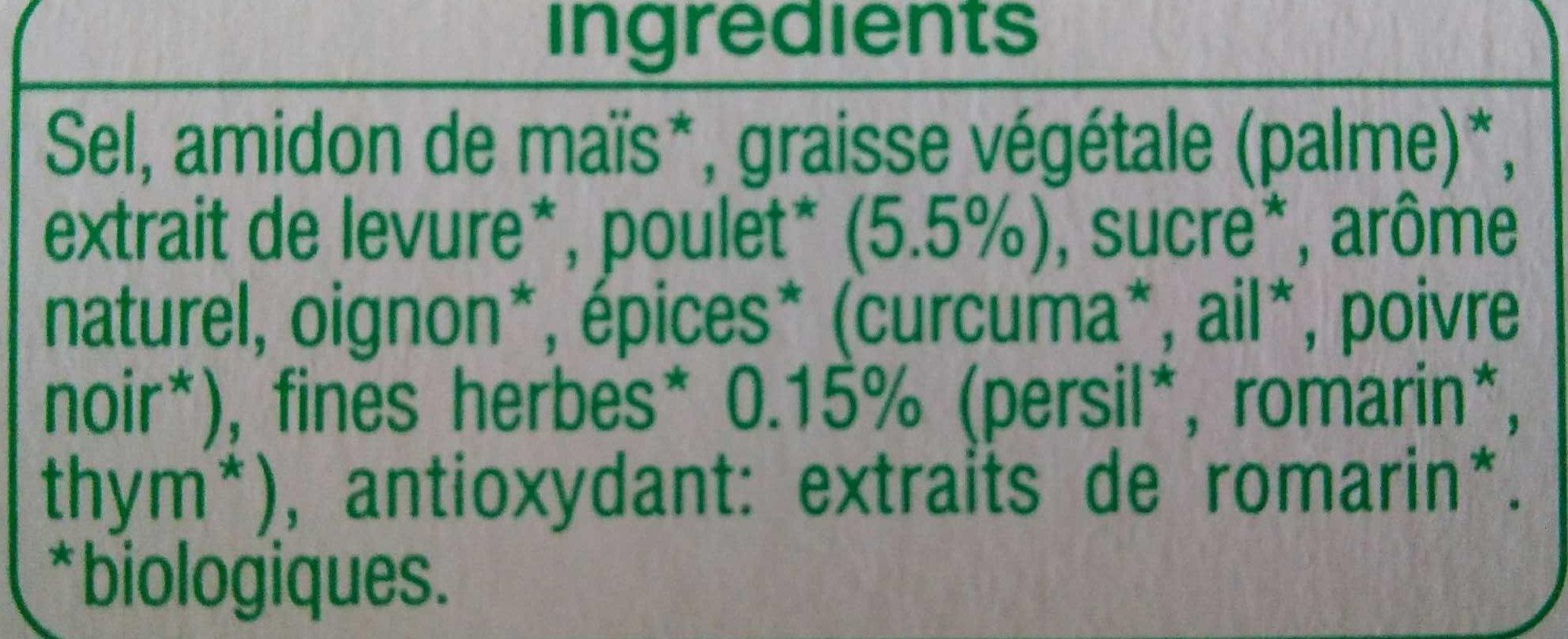 Bouillon de poulet et fines herbes - Ingrediënten