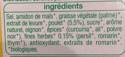 Bouillon aux légumes et aromates - Ingredients
