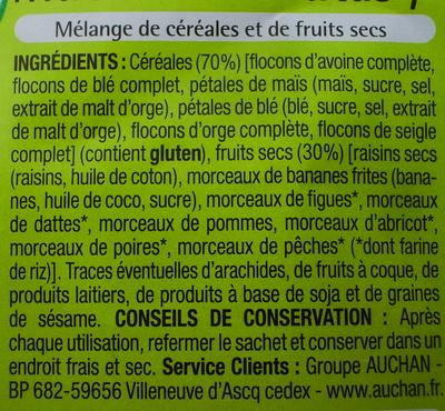 Muesli aux fruits - Ingrédients - fr