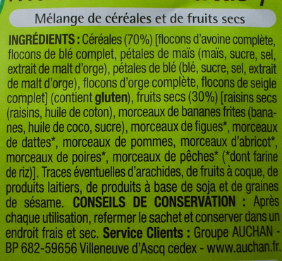 Muesli aux fruits - Ingredienti - fr