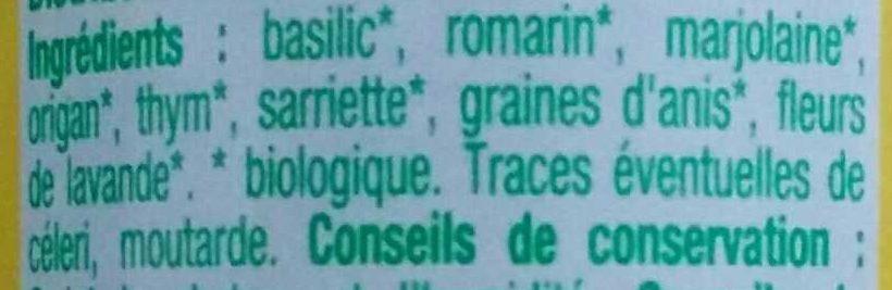 Herbes de Provence bio - Ingredients