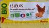 15 Œufs de Poules Élevées en Plein Air Bio - Product