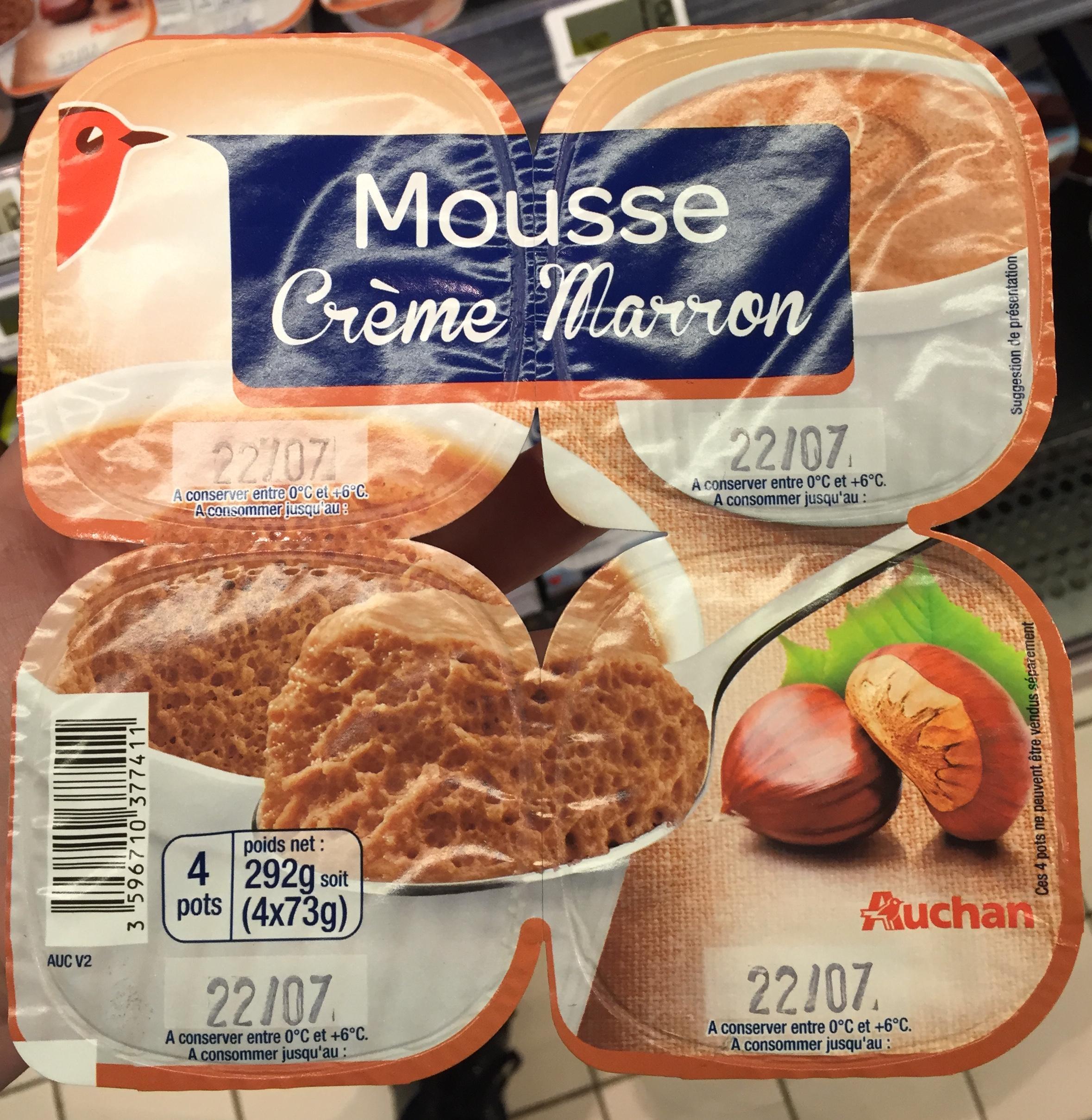 Mousse Crème Marron - Produit - fr